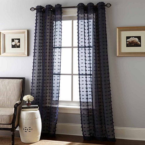 Payton 2pk 2-Pack Grommet-Top Sheer Curtain Panel