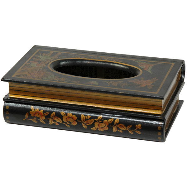 Oriental Furniture Lacquer Rectangular Tissue Box Cover