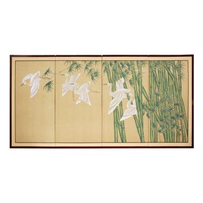 Oriental Furniture Bamboo Escape Canvas Art