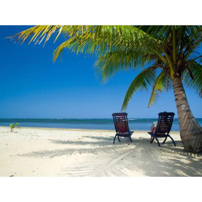 Oriental Furniture Caribbean Beach Getaway Canvas Art