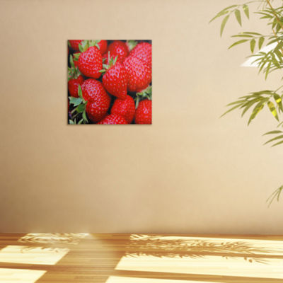 Oriental Furniture Strawberries Canvas Art