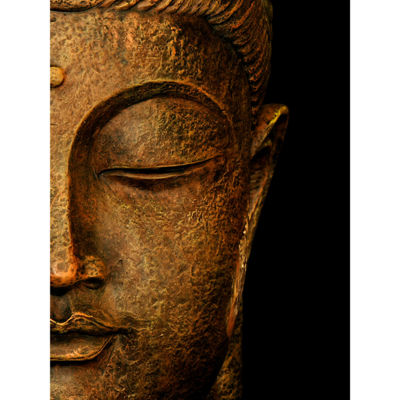 Oriental Furniture Serene Buddha Canvas Art