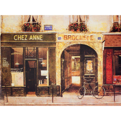 Oriental Furniture Parisian Café Canvas Art