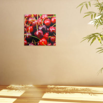Oriental Furniture Cherries Canvas Art