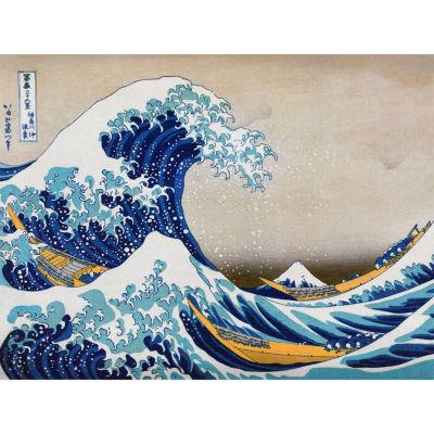 Oriental Furniture The Great Wave Off Kanagawa Canvas Art