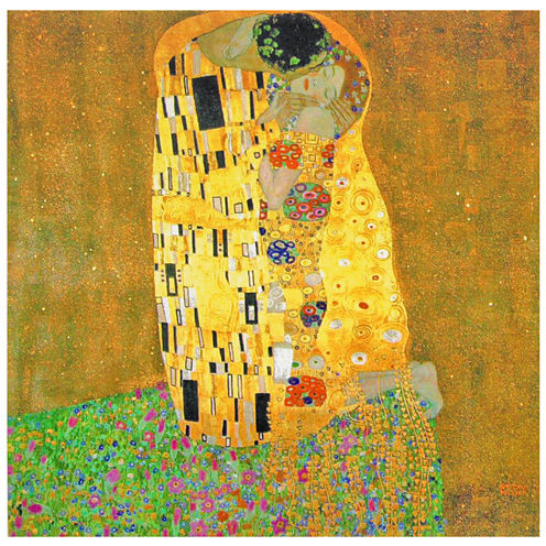 Oriental Furniture Works Of Klimt - The Kiss Canvas Art