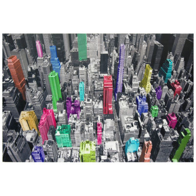 Oriental Furniture Colorful New York Canvas Art