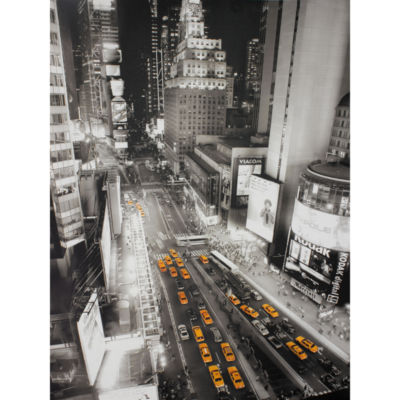 Oriental Furniture Taxis In Times Square Canvas Art