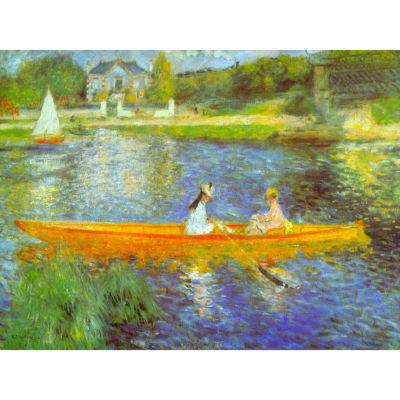 Oriental Furniture The Seine By Renoir Canvas Art