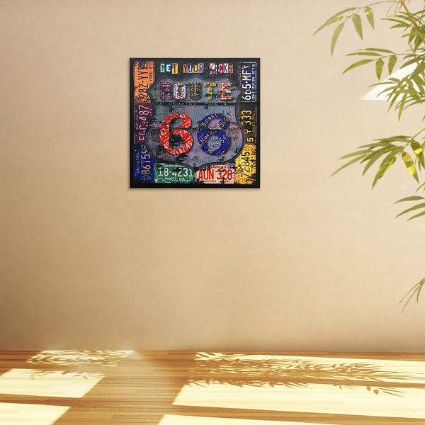 Oriental Furniture Route 66 Canvas Art - JCPenney