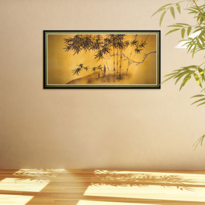 Oriental Furniture Bamboo Tree Canvas Art