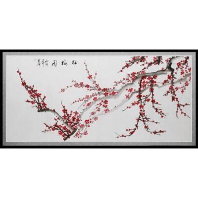 Oriental Furniture Plum Blossoms Canvas Art