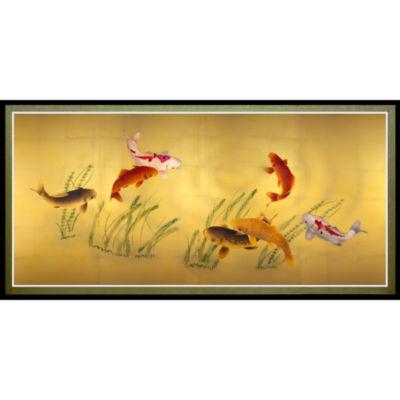 Oriental Furniture Seven Lucky Fish Canvas Art