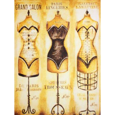 Oriental Furniture Haute Couture Dress Forms Canvas Art