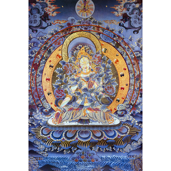 Oriental Furniture Radiant Tara Tibetan Canvas Art