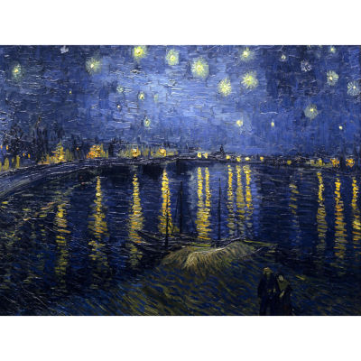 Oriental Furniture Starry Night Over The Rhone By Van Gogh Canvas Art