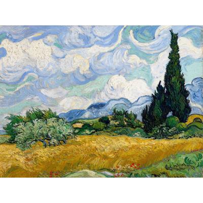Oriental Furniture Wheat Field By Van Gogh Canvas Art
