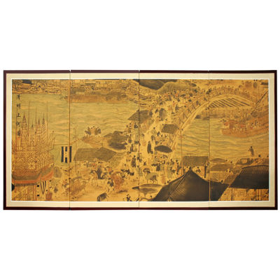 Oriental Furniture Ching Ming Festival Canvas Art