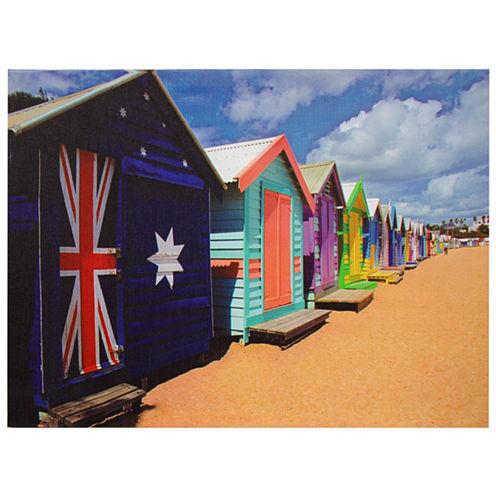 Oriental Furniture Beach Cabana Canvas Art