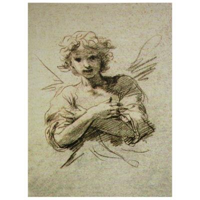 Oriental Furniture Angel Classic Print