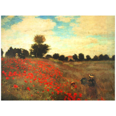 Oriental Furniture Poppies Scenic + Landscape Print