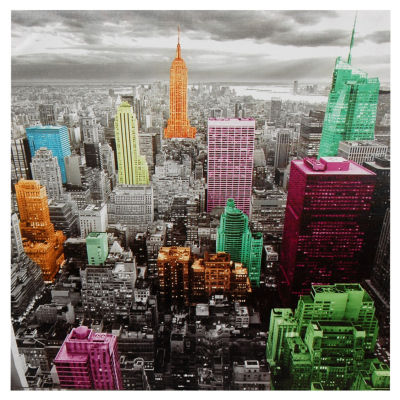Oriental Furniture High-Lights Of New York Skyline Scenic + Landscape Print