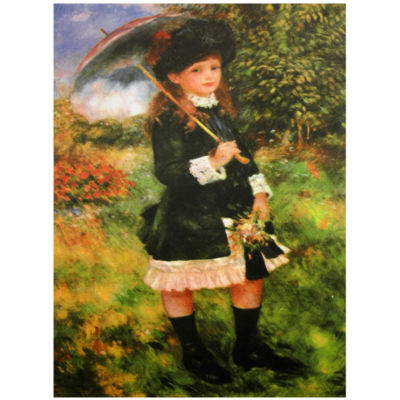 Oriental Furniture Young Girl With Parasol' Print