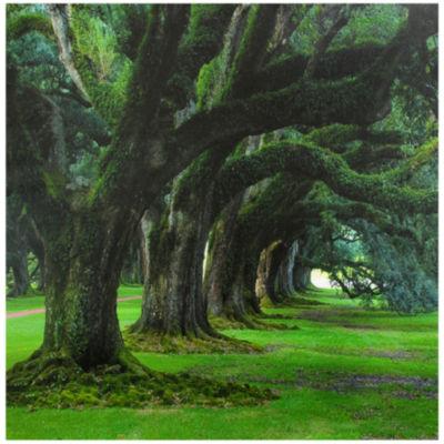 Oriental Furniture Tree Of Life Trees + Leaves Print