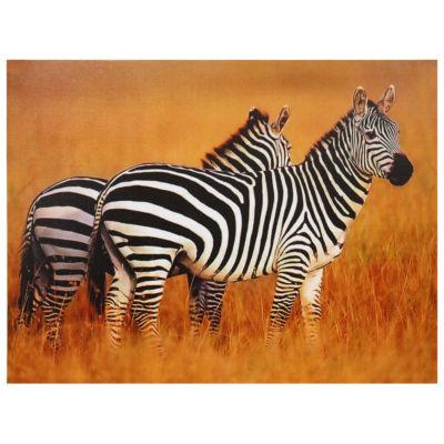 Oriental Furniture Plains Zebras Modern Print