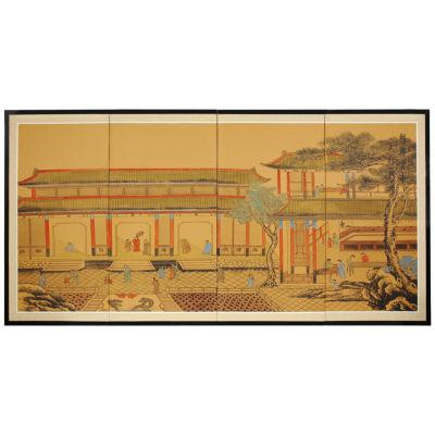 Oriental Furniture Dynasty Courtyard Print