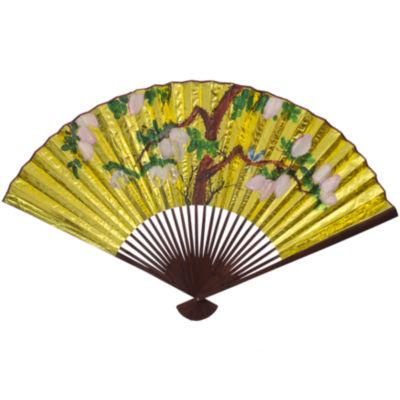 Oriental Furniture Golden Wall Fan #4 Print