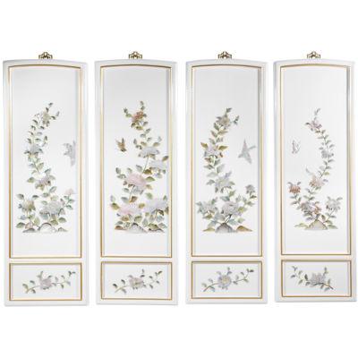 Oriental Furniture Birds And Flowers Print