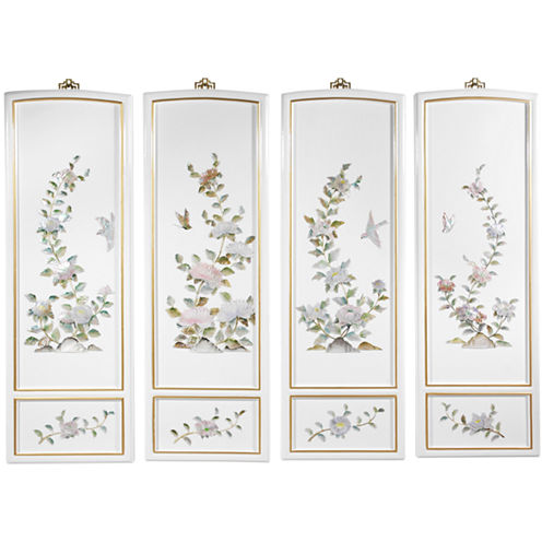 Oriental Furniture Birds And Flowers Print