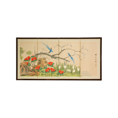 Oriental Furniture Birds & Flowers Are One Print