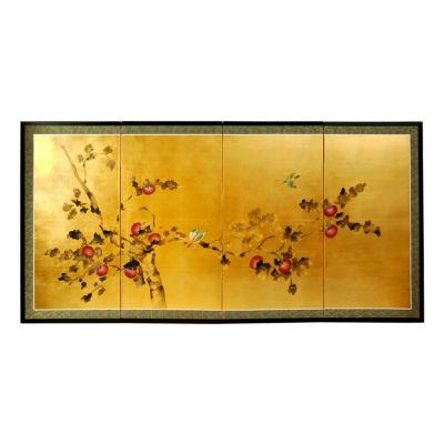 Oriental Furniture Gold Leaf Cherry Blossom Print
