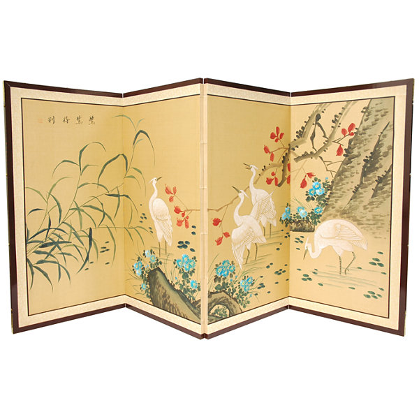 Oriental Furniture Geese In The Water Wall Sculpture