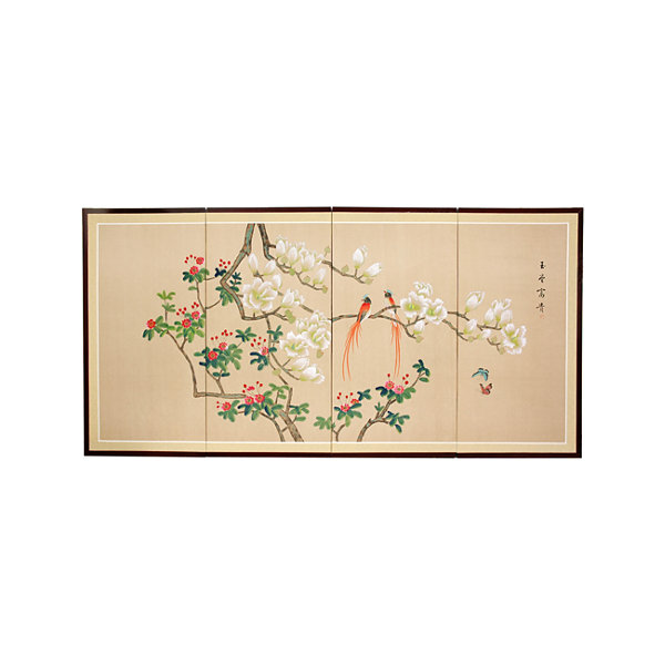 Oriental Furniture Love Birds Wall Sculpture