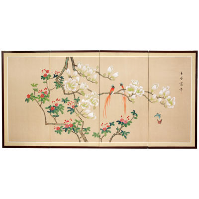 Oriental Furniture Love Birds Animals + Insects Wall Sculpture