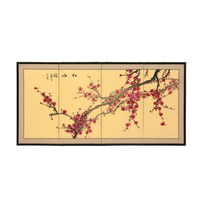 Oriental Furniture Plum Blossom Floral Wall Sculpture