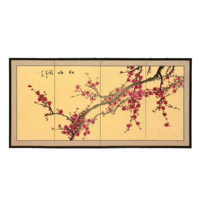 Oriental Furniture Plum Blossom Floral Wall Sculpture