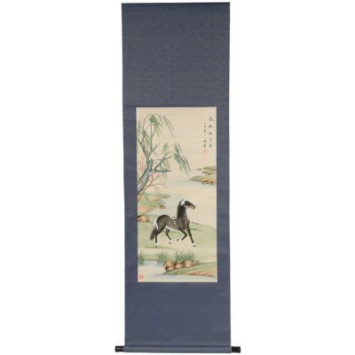 Oriental Furniture Riverside Stallion Canvas Art