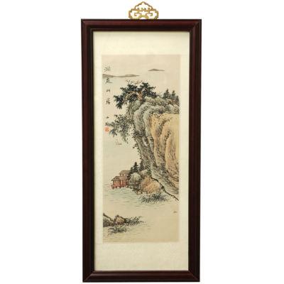 Oriental Furniture River Cottage Canvas Art