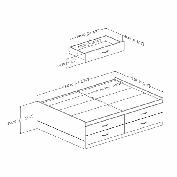 Cosmos Captain Bed with 4 Drawers