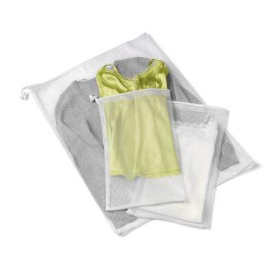 Honey-Can-Do LBGZ01148 2 Pack,  3-Piece Mesh Laundry Bag Set