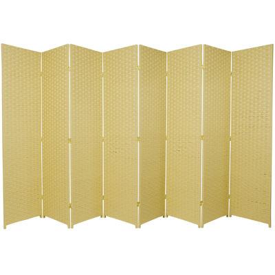 Oriental Furniture 6' Woven Fiber 8 Panel Room Divider