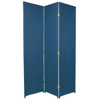 Oriental Furniture 6' Woven Fiber Special Edition3 Panel Room Divider