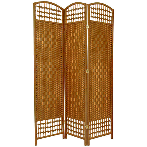 Oriental Furniture 5.5' Fiber Weave 3 Panel Room Divider