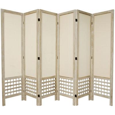Oriental Furniture 5.5' Open Lattice 6 Panel RoomDivider