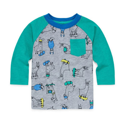 Okie Dokie Long Sleeve Raglan Tee - Baby Boy NB-24M