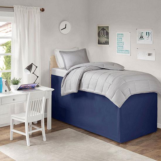 Intelligent Design Extended Height & Ultra Soft For Taller Dorm Beds Skirt